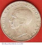 20 dinara srebrni novac iz 1938. kralja Petra