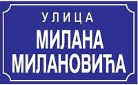 Table za obeležavanje naziva ulica i kućnih brojev