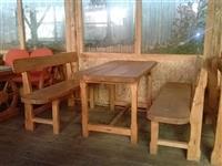 Etno klupe i stolovi