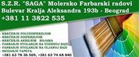 """MOLERSKO FARBARSKI RADOVI - S.Z.R """"SAGA"""" , BEOGRAD"""