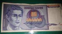 Papirna novčanica od 500.000 din.,1993, XF